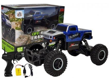 autíčko na dálkové ovládání monster truck 120 modré (1)