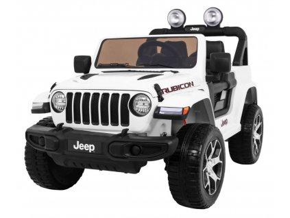 Elektrické autíčko Jeep Wrangler Rubicon 4 x 4 bílé
