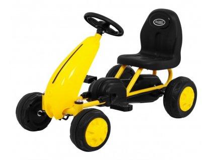 Dětská šlapací motokára žlutá