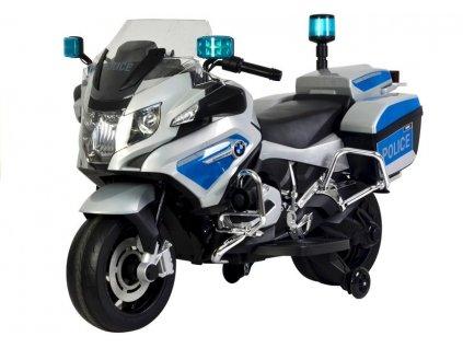 Elektrická motorka BMW R1200 Policie stříbrná