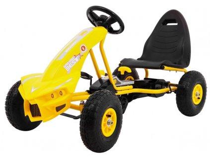 Dětská šlapací motokára Chamiopn žlutá
