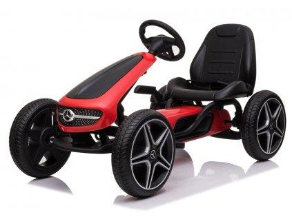 Dětská šlapací motokára XMX610 červená2