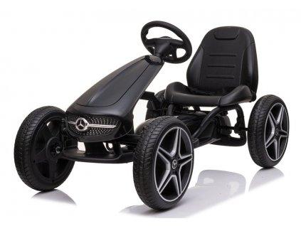 Dětská šlapací motokára Mercedes XMX610 černá1