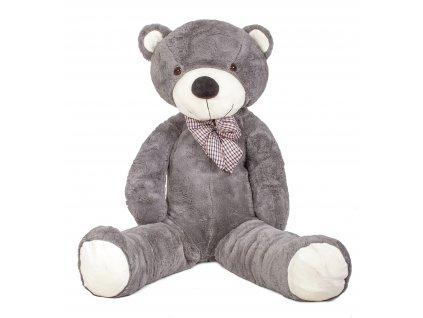 Plyšový medvěd XXL 180 cm šedý