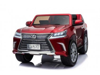 Dětské elektrické autíčko Lexus lakované červené+3