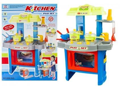 Velká dětská kuchyňka s troubou a doplňky modrá