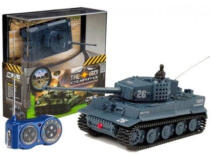 Auto na dálkové ovládání tank šedý