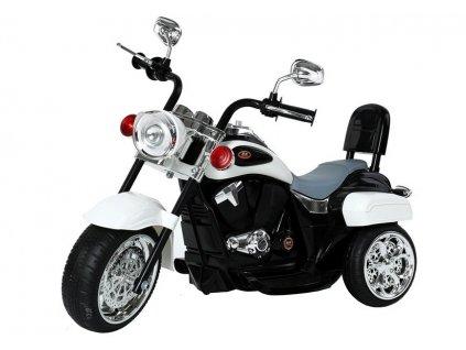 dětská elektrická motorka chopper bílá