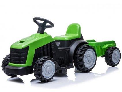 mamido dětský elektrický traktor zelený (4)