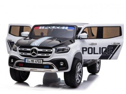 dětské elektrické autíčko policie bílé (9)