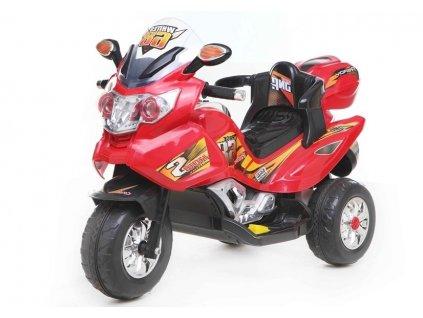 mamido dětská elektrická motorka červená (2)