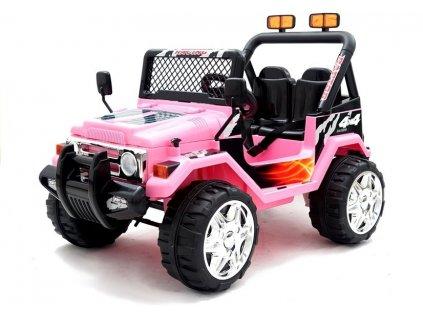 dětské elektrické autíčko drufter terrenní růžové (3)