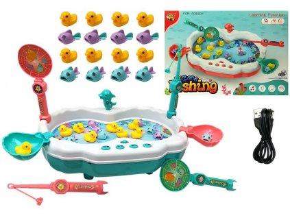 společenksá hra lovení rybiček modrý set (2)