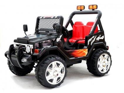 dětské elektrické autíčko pro dvě osoby černé (9)