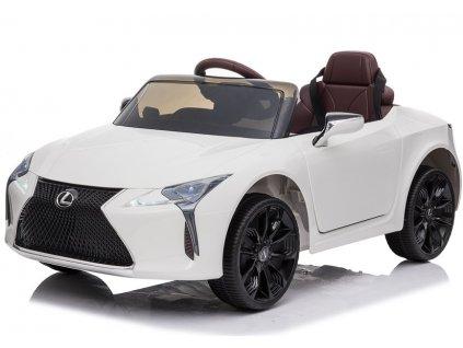 dětské elektrické autíčko lexus sport lakované bíl= (5)