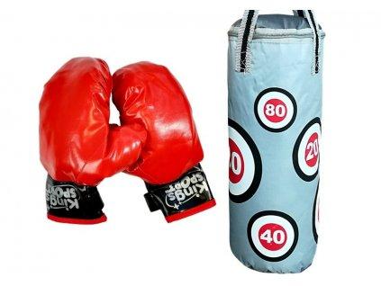 Dětský boxovací pytel a rukavice 69 x 21 cm