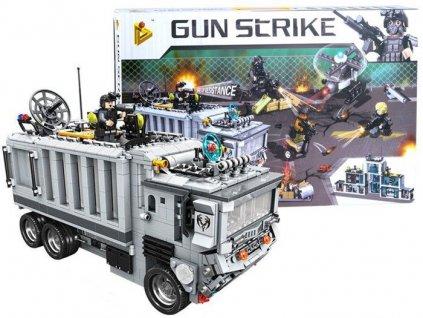 Stavebnice policejní stanice a protiteroristický vůz