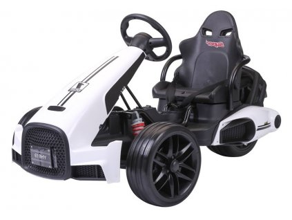 dětská elektrická motokára formule bílá (2)