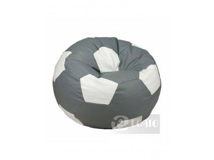 sedací vak míč XXL 450L šedo bílý