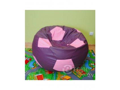 sedací vak fialovo růžový