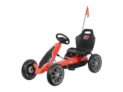 Velká šlapací motokára Ferrari červená2