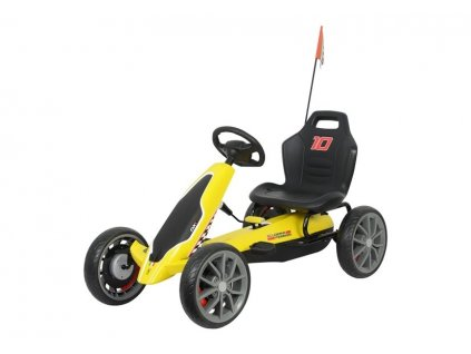 Velká šlapací motokára Ferrari žlutá1