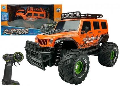 Auto na dálkové ovládání Jeep Raptor oranžové