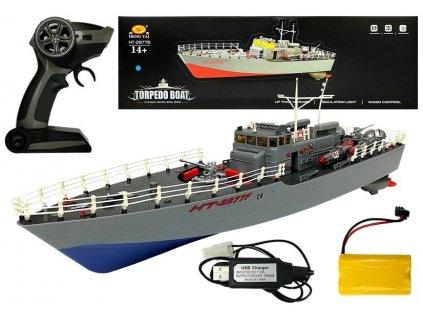loď na dálkové ovládání torpedo boat (2)