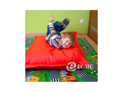 sedací polštář červený