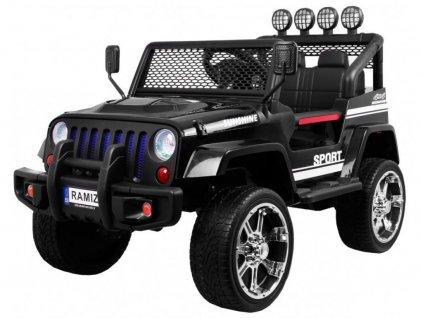 mamido dětské elektrické autíčko jeep raptor 2020 černé dálkové ovládání