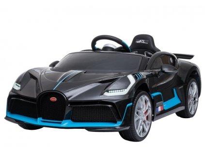 dětské elektrické autíčko bugatti divo lakované černé (3)