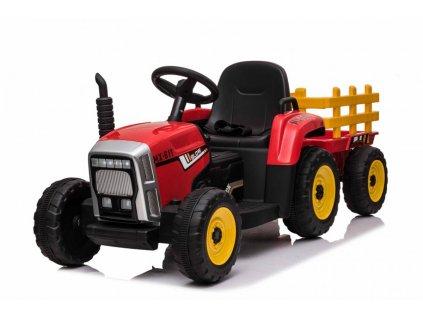 Elektrický traktor s vlečkou T2 červený10