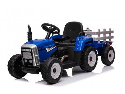 mamido Elektrický traktor s vlečkou T2 modrý