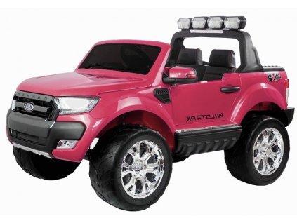 mamido Dětské elektrické autíčko Ford Ranger 4x4 lakované růžové3