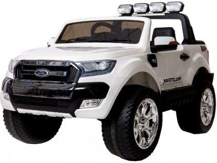mamido Dětské elektrické autíčko Ford Ranger Wildtrak 2020 4x4 bílý1