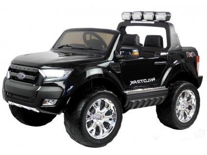 mamido Dětské elektrické autíčko Ford Ranger Wildtrak 2020 4x4 LCD lakované černé