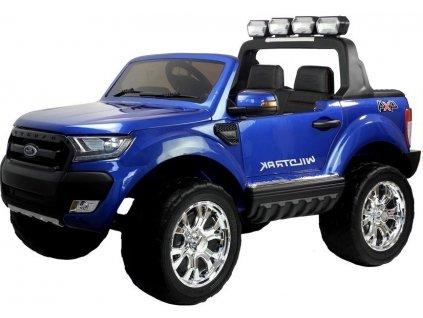 mamido Dětské elektrické autíčko Ford Ranger Wildtrak 2020 4x4 LCD lakované modré8