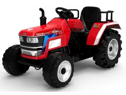 Dětský elektrický traktor Mahindra XXL červený