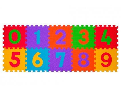 mamido Pěnové puzzle BabyOno číslice 10 ks