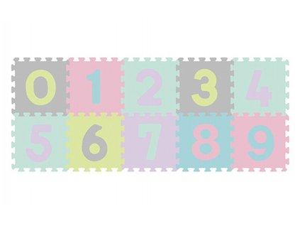 mamido Pěnové puzzle BabyOno číslice 10 ks 1