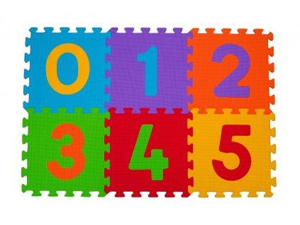 mamido Pěnové puzzle BabyOno číslice 6 ks