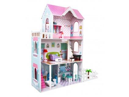 dřevěný domeček pro panenky se zahrádkou (2)