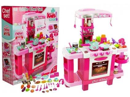 velká dětská kuchyňka s příslušenstvím růžová (3)