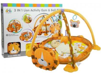 dětská hrací podložka interaktivní podložka pro nejmenší velryba hračky pro nejmenší chrastítka hrací pane ( (4)
