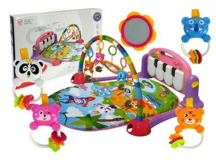 dětská hrací podložka interaktivní podložka pro nejmenší velryba hračky pro nejmenší chrastítka ( (3)