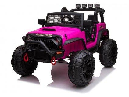 elektrické auto jeep 4x4 růžové (2)