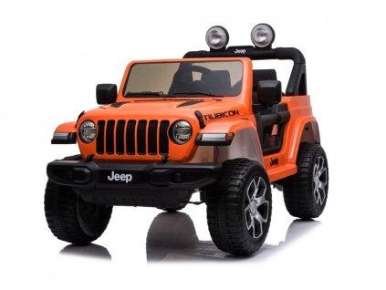 Mamido elektricke auticko Jeep Wrangler Rubicon 2020 4x4 oranzove (3)