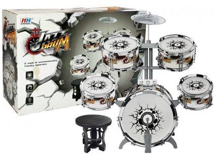 mamido Dětské bicí stříbrné 1