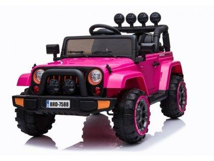 mamido Dětské elektrické auto Jeep BRD 4x4 růžové 2