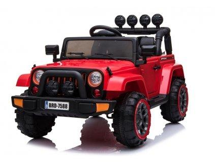mamido Dětské elektrické auto Jeep BRD 4x4 červené 2